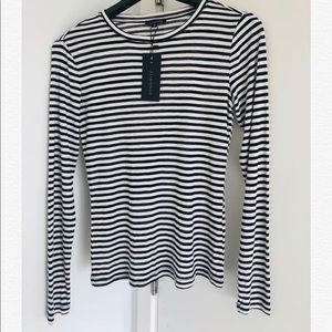 Brand new striped top- Size S - tag attached